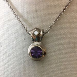 Jewelry - Amethyst enhancer sterling silver